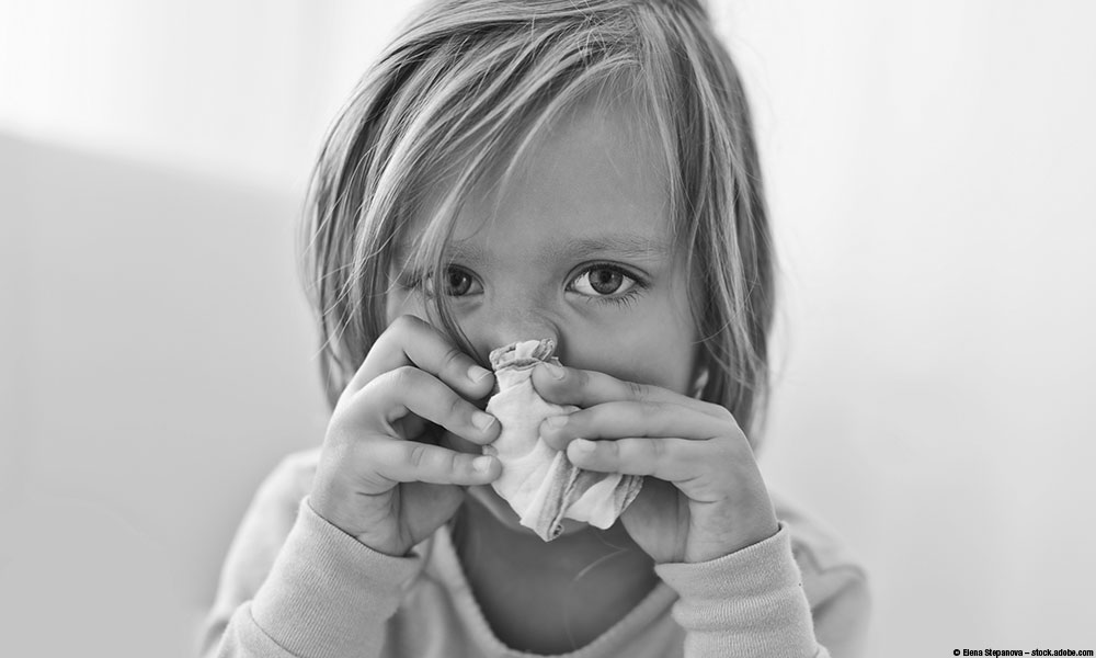 Child with runny nose.