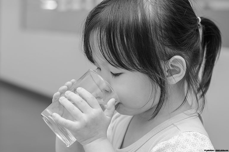Image of a girl drinking water