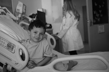 image of young boy in a hospital bed