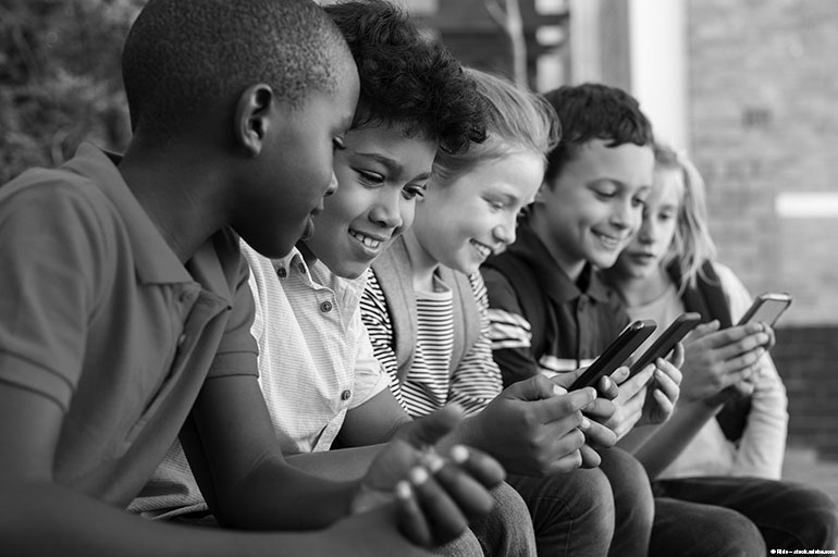 Image result for black children with mobile phones