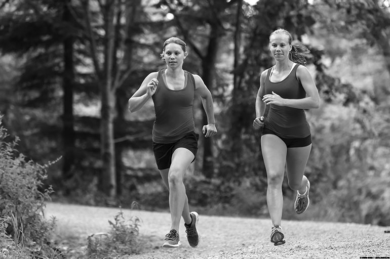 Two athletes running