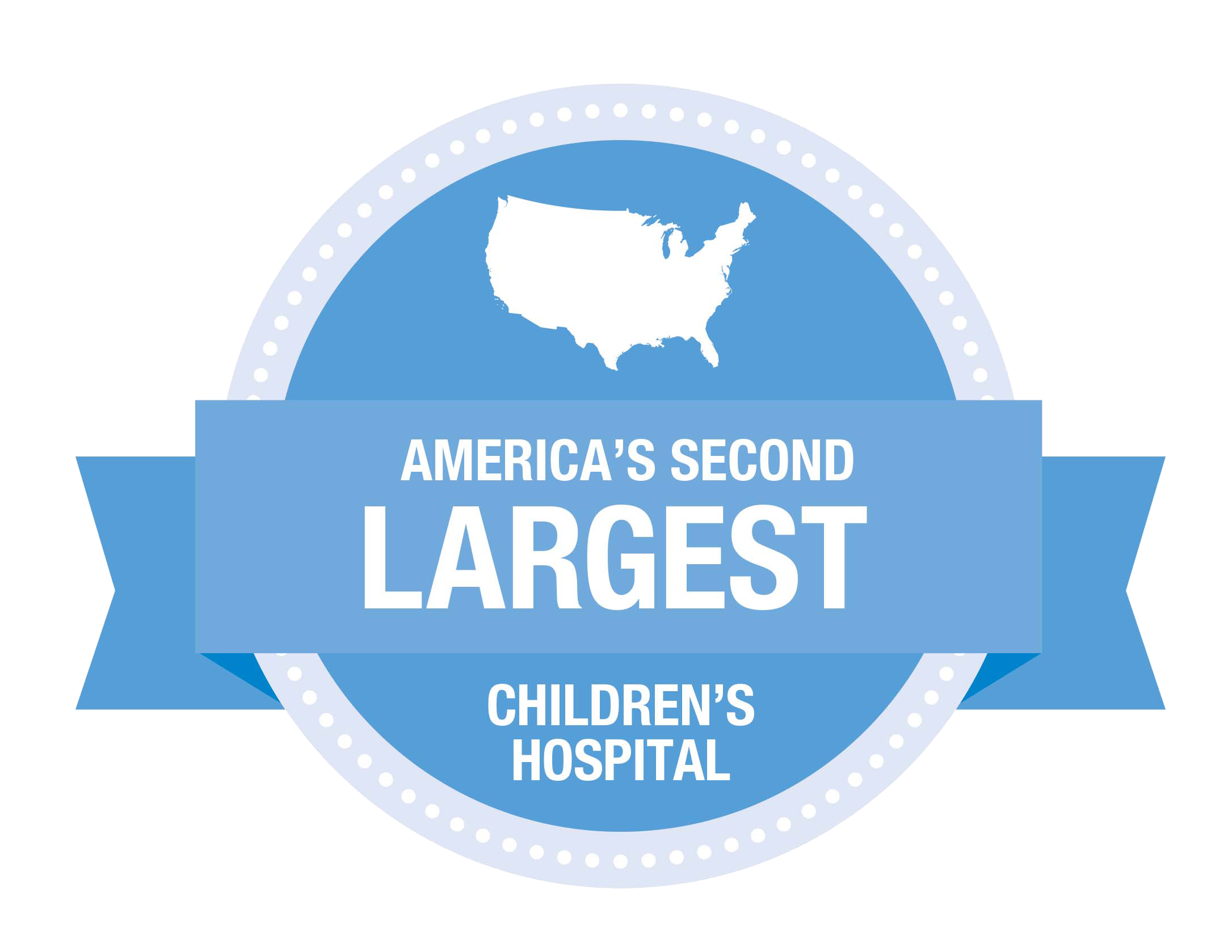 America's Second Largest Children's Hospital Badge