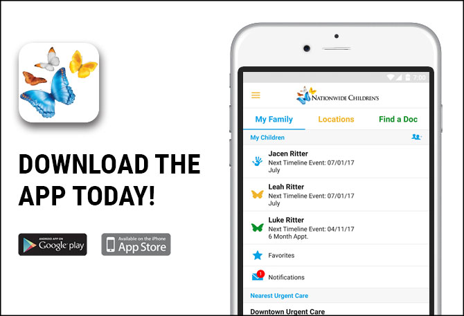download the mychildren's app today
