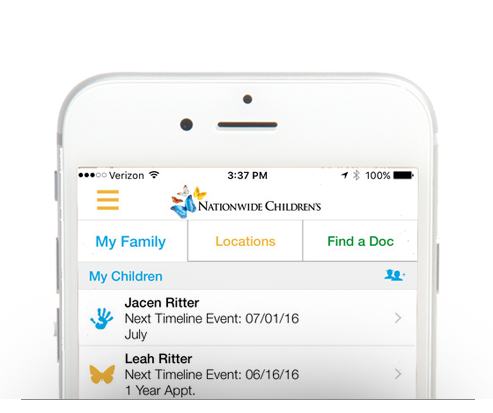 Nationwide Children's Hospital myChildren's Mobile Application