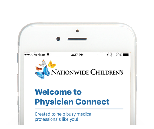 Nationwide Children's Hospital Physician Connect Mobile Application
