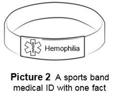 medical ID sports band