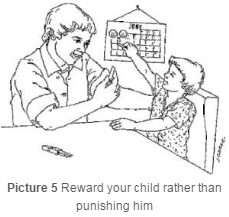 Parent rewarding child