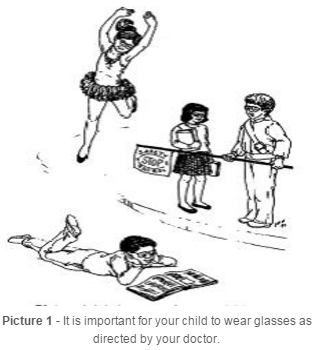 children participating in activities with glasses
