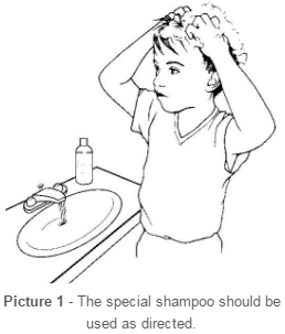 child washing hair