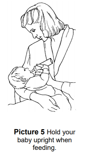 Hold your baby upright when feeding