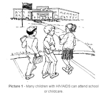 Children with HIV/AIDS attending school