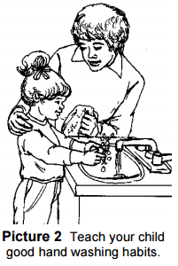 Teach your child good hand washing habits
