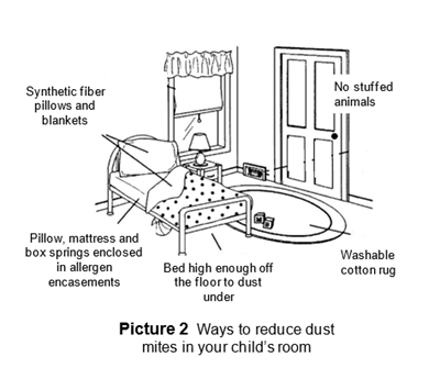 Ways to reduce dust mites in your child's room