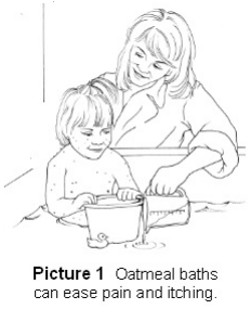 Oatmeal baths can ease pain and itching
