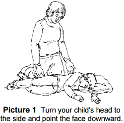 child laying on side with face turned towards the ground