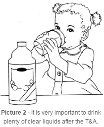 Child drinking clear liquids