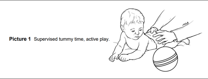Supervised tummy time active play