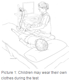 child wearing personal clothes during test