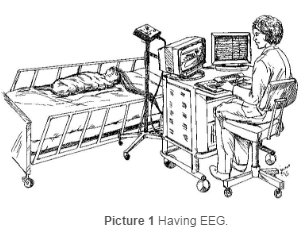 child having an EEG