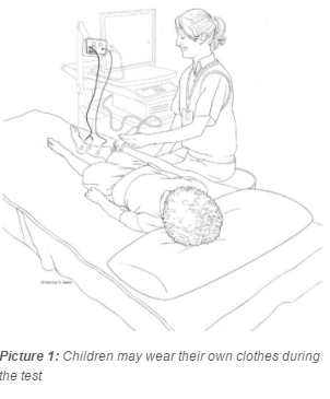 child receiving an EMG
