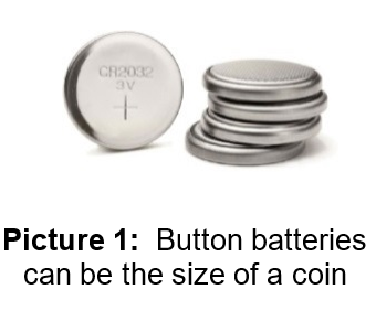 Button Batteries the Size of a Dime