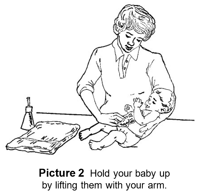 Bathing Baby on a Pad