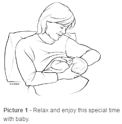 Mom and Baby Breast Feeding