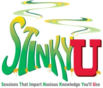 stinky university logo