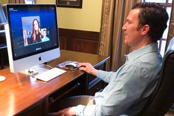 Dr. Stukus conducts a telehealth visit with a patient and her mom