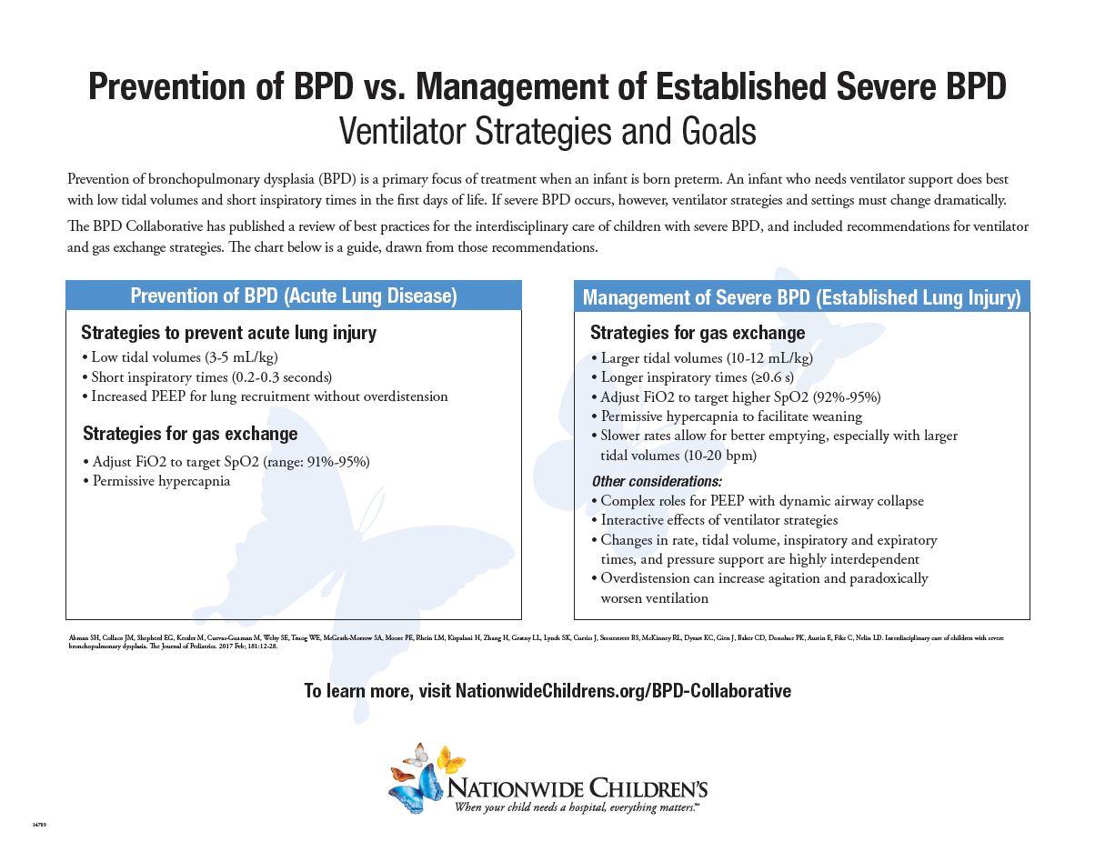Severe BPD Ventilator Strategies: A Quick Guide