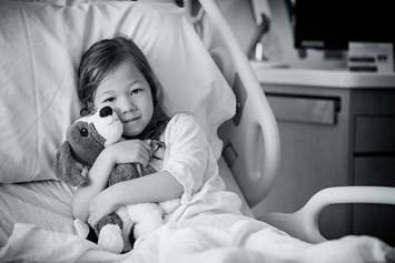 Nationwide Children's Hospital Patient Stock Photo