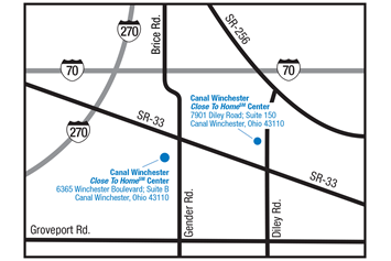 Canal Winchester Close To Home Center Combined Map