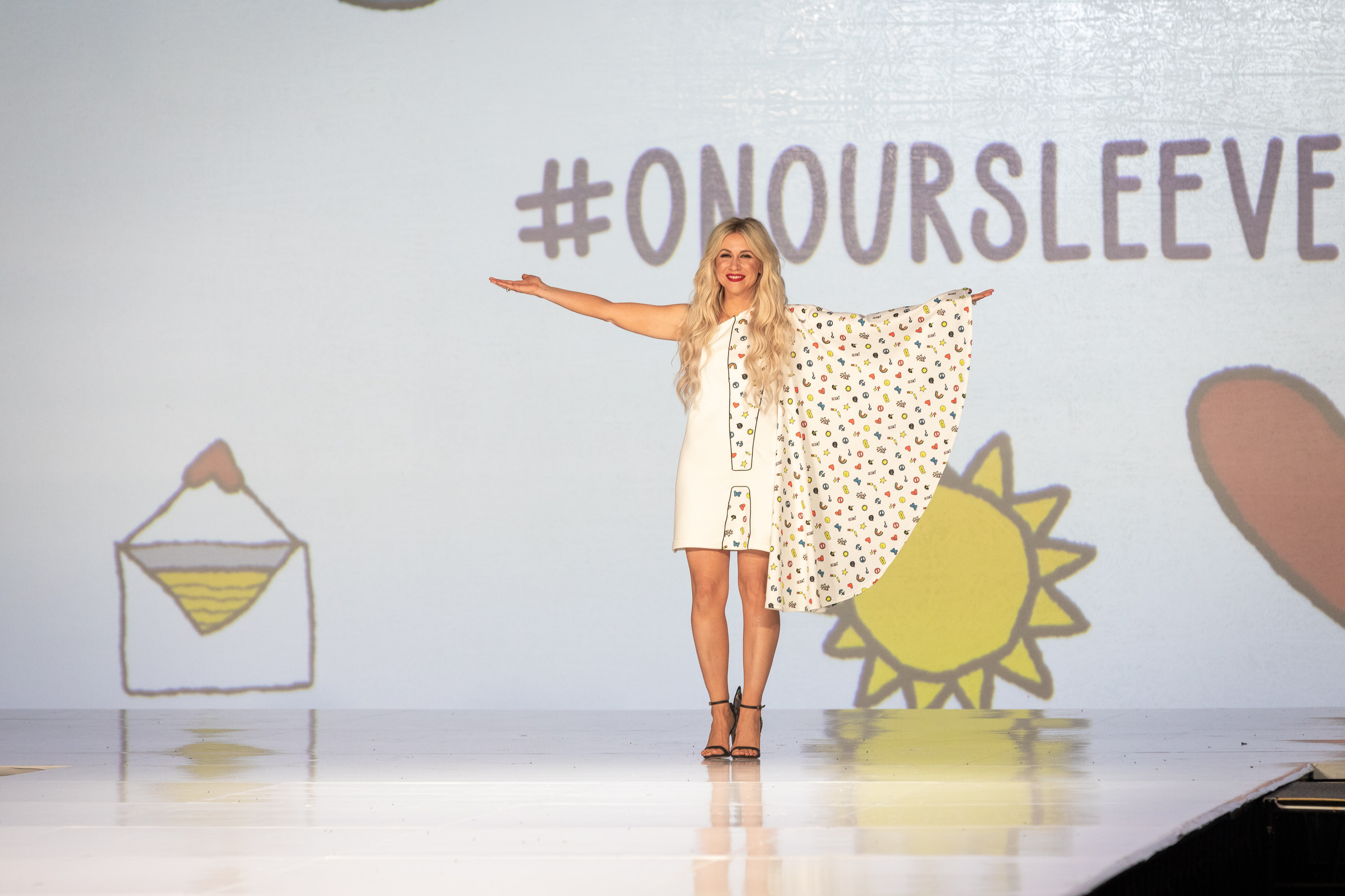 Ashley Eckstein Reveals Stigma-Breaking Dress for Childhood Mental Health with On Our Sleeves™ Themed Dress at San Diego Comic-Con International