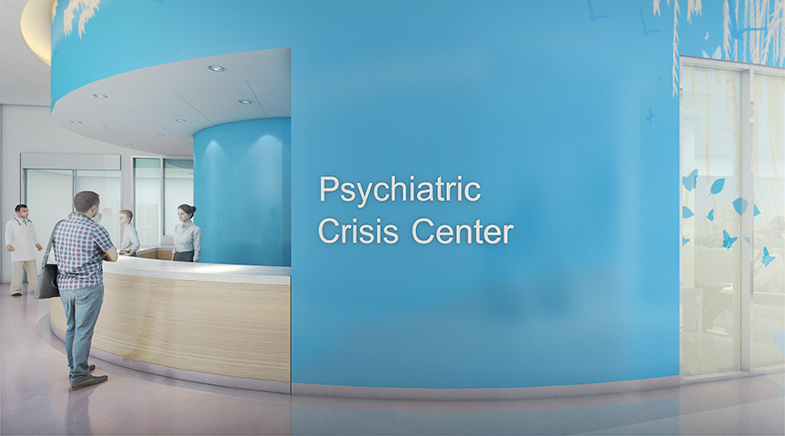 Big Lots Behavioral Health Pavilion Crisis Center Rendering