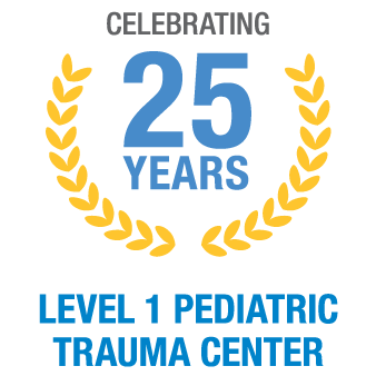 25 years as level 1 pediatric trauma center